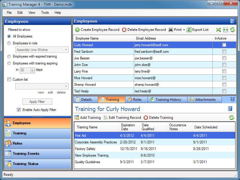 Employee Training Record Software