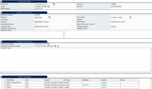 Calibration Recall Software Info