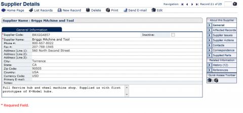 Supplier Management Software System